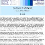 DBH-Seminar: Sucht und Straffälligkeit