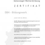 Das DBH-Bildungswerk richtet seine Veranstaltungen nach den Qualitätsstandards des Gütesiegel-Verbundes aus - die Rezertifizierung erfolgte 2014